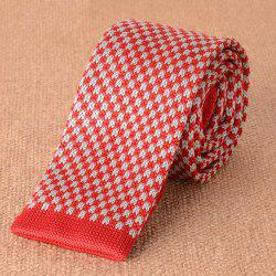 Vintage Color Block Knitted Neck Tie