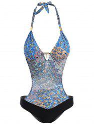 Halter Backless Print Monokini