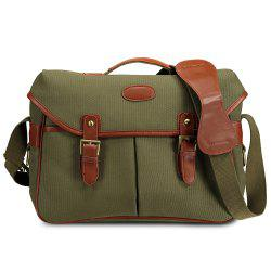 Canvas Double Buckles Camera Bag - GREEN