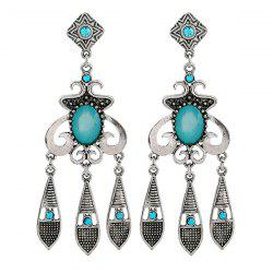 Vintage Geometric Rhinestone Water Drop Earrings