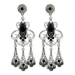 Statement Rhinestone Hollow Out Earrings