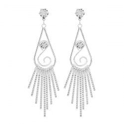 Zircon Water Drop Dangle Earrings