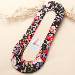Skidproof Invisible Tiny Floral Loafer Liner Socks