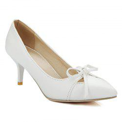Faux Leather Pointed Toe Pumps -