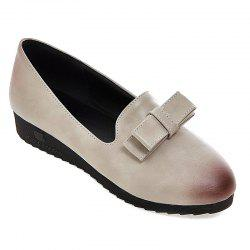 Bowknot Round Toe Flat Shoes