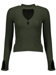 Ribbed Cut Out Knitwear -