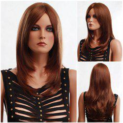 Long Side Parting Fluffy Slightly Curled Synthetic Wig