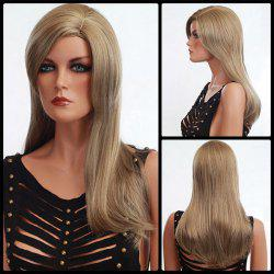 Long Side Parting Shaggy Natural Straight Synthetic Wig