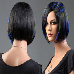 Short Side Parting Highlight Bob Silky Straight Synthetic Wig