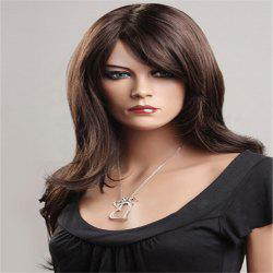 Long Shaggy Side Bang Layered Natural Wavy Synthetic Wig