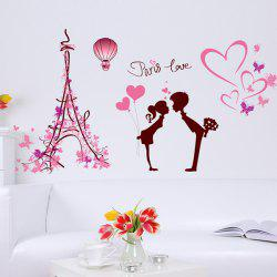 Romantic Paris Love Removable Wall Stickers
