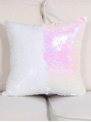 DIY Two Tone Glitter Sequins Throw Pillow Case