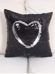 DIY Glitter Sequins Heart Cushion Cover Pillow Case