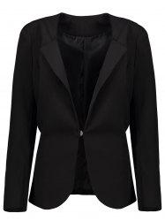 Plus Size Long Sleeve Jacket Blazer