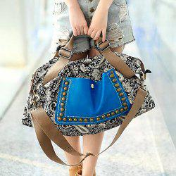 Ethnic Style Rivets and Splice Design Women's Tote Bag - COLORMIX