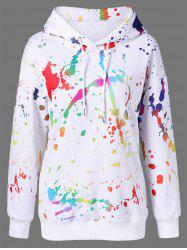 Splatter Paint Drop Shoulder Hoodie