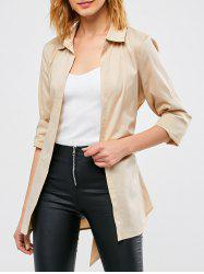 Belted Open Front Coat