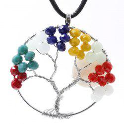 Life Tree Circle Pendant Necklace
