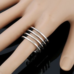 Cut Out Geometry Alloy Ring