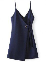 A Line Slip Robe Dress - PURPLISH BLUE