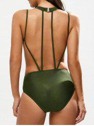 One Piece Caged High Neck Swimsuit