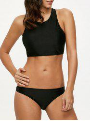 High Neck Racerback Bikini Set -