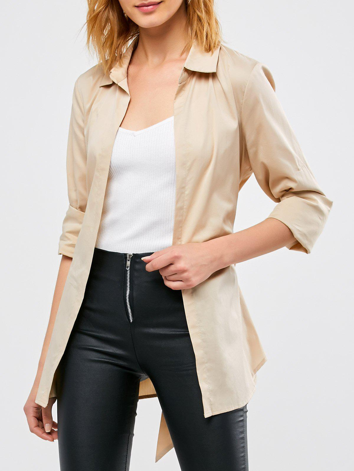 Outfits Belted Open Front Coat