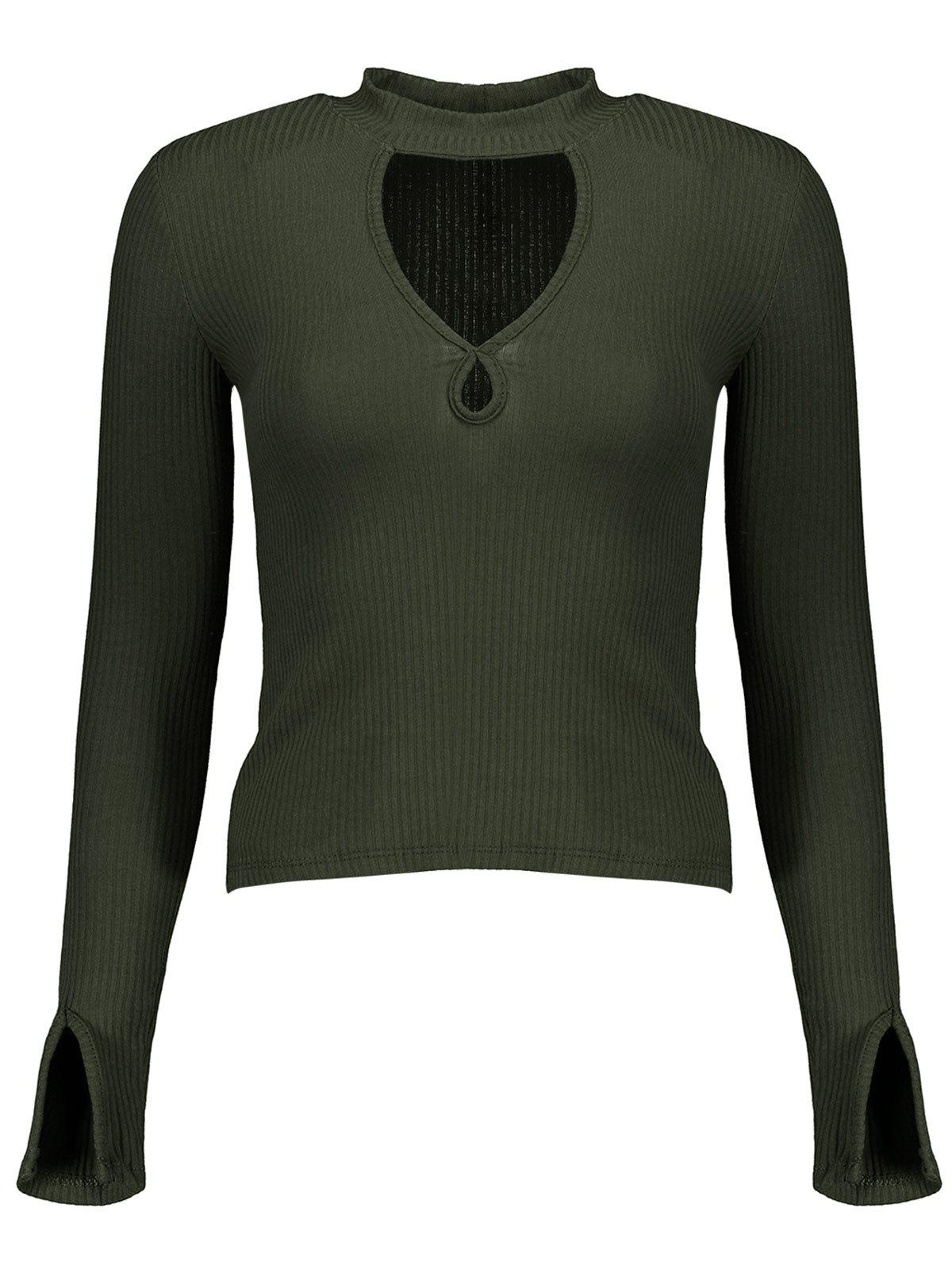 Ribbed Cut Out Knitwear 206473304