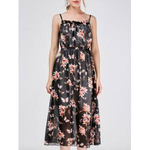 Bohemian Beach Chiffon Cami Floral Print Casual Dress