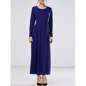 Long A Line Formal Dress with Sleeves