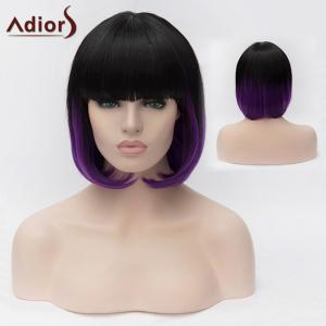 Adiors Short Full Bang Silky Straight Bob Colormix Synthetic Wig