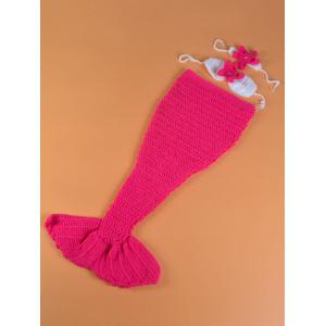 Mermaid Blanket Set Photography Prop Free Knitted Baby Blankets -
