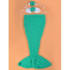 Mermaid Blanket Set Photography Prop Free Knitted Baby Blankets