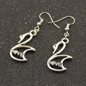 Love Letter Swan Drop Earrings