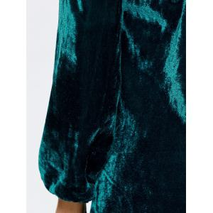 Backless Velvet Flare Dress -