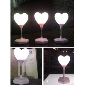 USB Charge Heart Shape Touch Switch LED Table Lamp - Purple
