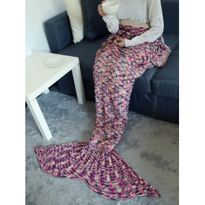Camouflage Pattern Crochet Knit Mermaid Blanket Throw - TUTTI FRUTTI