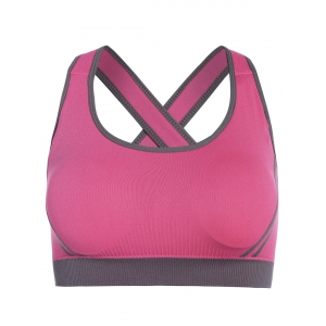 Low Impact Seamless Padded Sports Bra - Rose Red - S