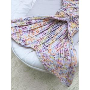 Wave Striped Baby Mermaid Knitted Blankets Personalized -