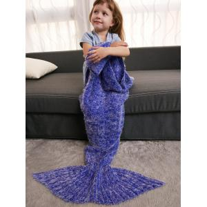 Kids' Crochet Knitted Faux Mohair Mermaid Blanket Throw -