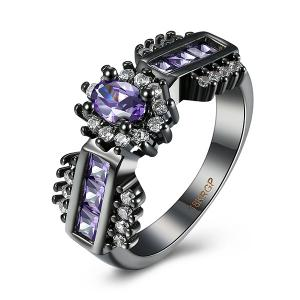 Artificial Amethyst Oval Ring