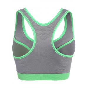 Front Close Racerback Padded Zipper Front Sports Bra -