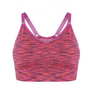 Space Dye Pullover Strappy Sports Bra - Rose - S