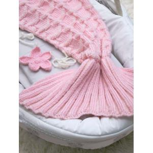 Little Mermaid Knitted Baby Girl Blankets -