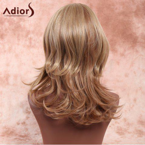 New Adiors Side Parting Highlight Slightly Curled Medium Synthetic Wig - COLORMIX  Mobile