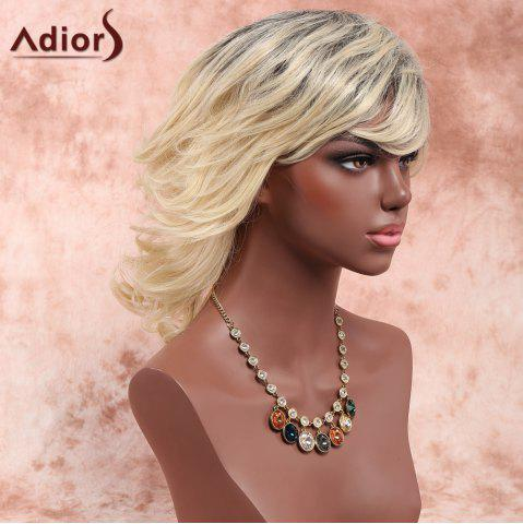 Sale Adiors Layered Medium Side Bang Fluffy Curly Synthetic Wig - OMBRE 1211#  Mobile