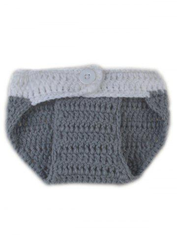 Fancy Rabbit Design Photography Clothes Knitted Baby Boy Blankets - GRAY  Mobile