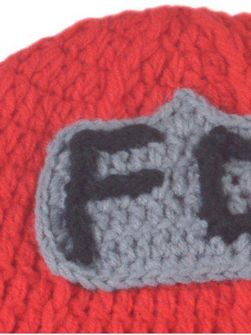 Best 3PCS Fireman Design Knitted Baby Boy Blankets Photography Clothes Set - RED  Mobile