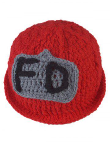Fancy 3PCS Fireman Design Knitted Baby Boy Blankets Photography Clothes Set - RED  Mobile