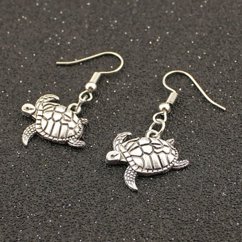 Shops Carved Tortoise Drop Earrings TB009 SILVER